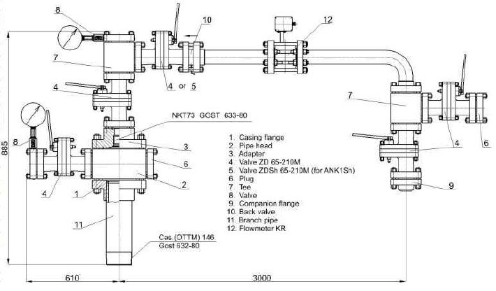 Injection Wellhead Equipment with Flow Meters